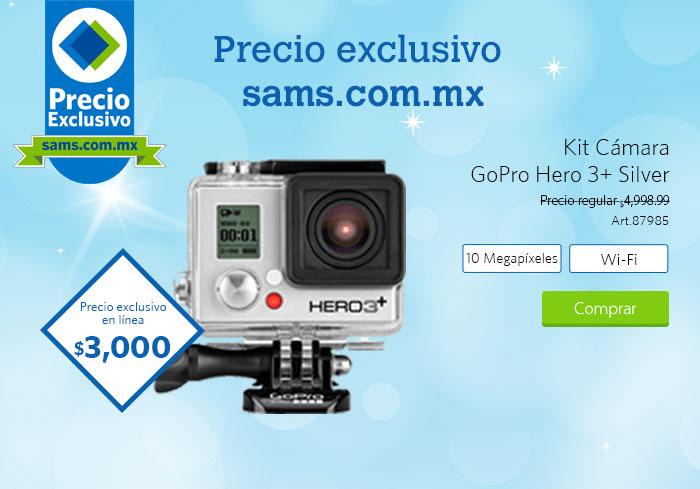 Sam's Club: GoPro Hero 3+ Silver a $3,000