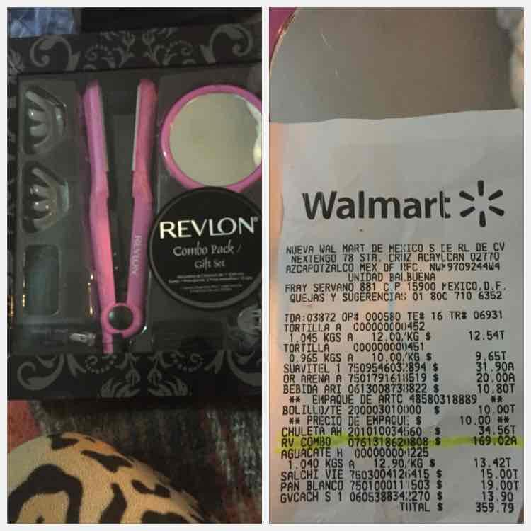 Walmart: combo plancha de cabello Revlon a $169.02