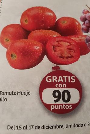Soriana Híper: Kilo de Tomate Huaje Gratis con 90 puntos