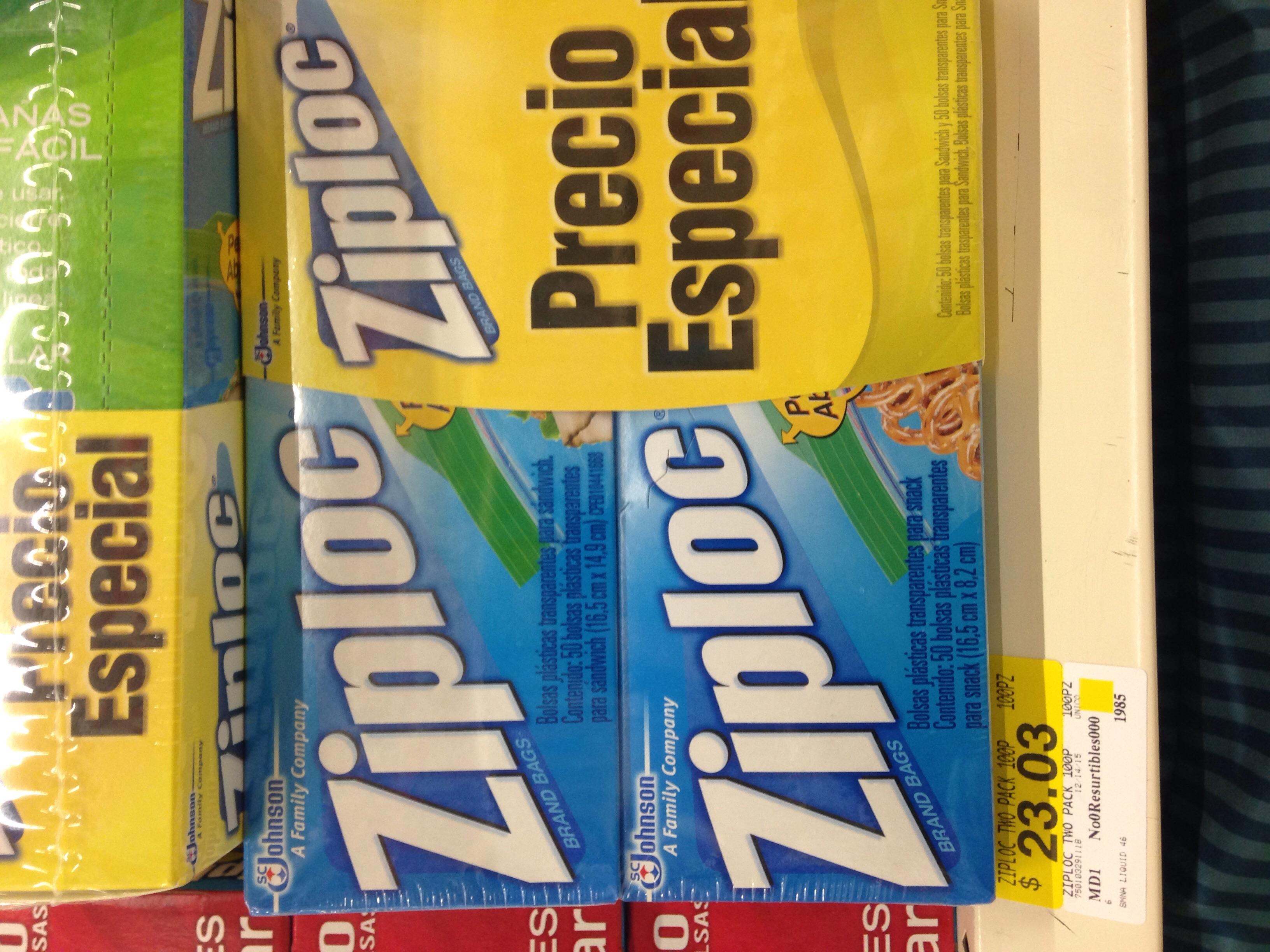 Walmart: liquidacion bolsas ziploc, aromatizantes de temporada