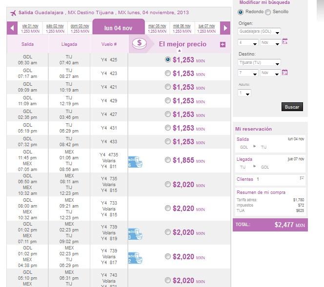 Volaris: promoción en vuelos desde o hacia Tijuana y saliendo de Toluca