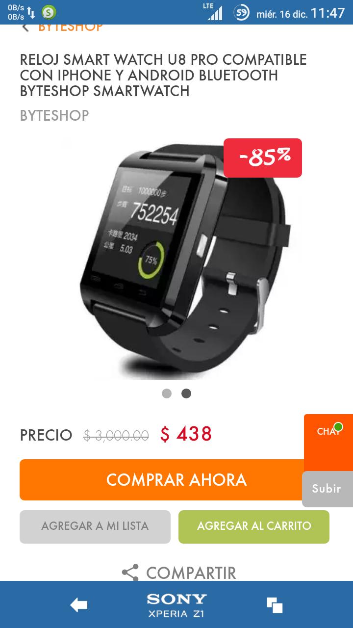 Linio: Un SmartWatch a precio accesible (U8 Pro)