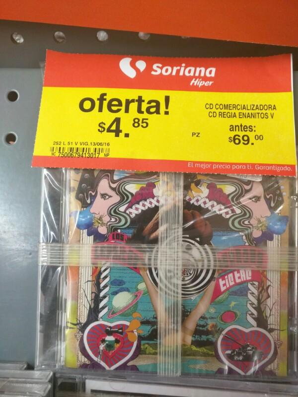 """Disco """" TIC TAC """" de los enanitos verdes por $4.85 en  Soriana hiper"""