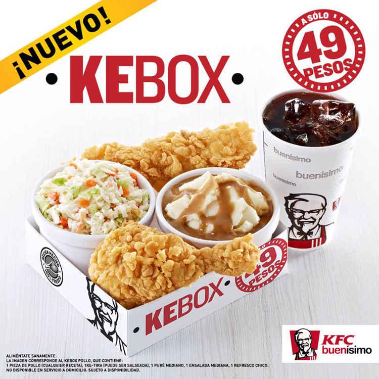 KFC: Pieza de pollo + Ke-tira + Ensalada + Puré + Refresco