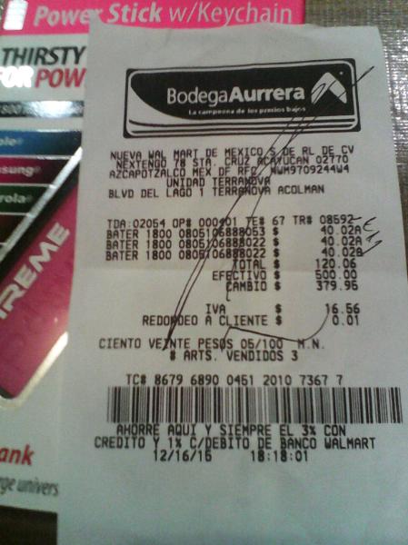 Bodega Aurrerá: Batería recagable xtreme mod 88803 a $40.02
