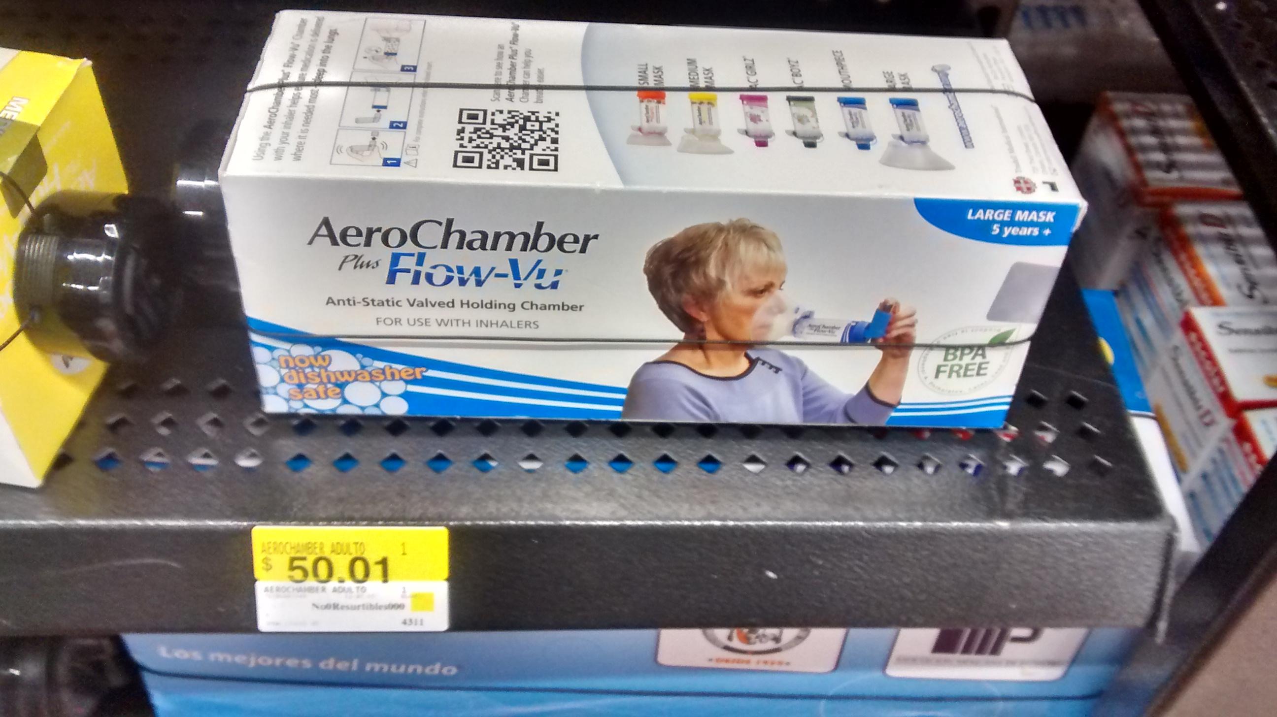 Walmart Patio Santa Fe: Cámara Inhaladora AeroChamber plus Flow-Vu para adulto.