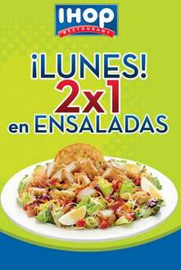 IHOP: 2x1 en ensaladas, crepas o aperitivos (DF, depende el día)