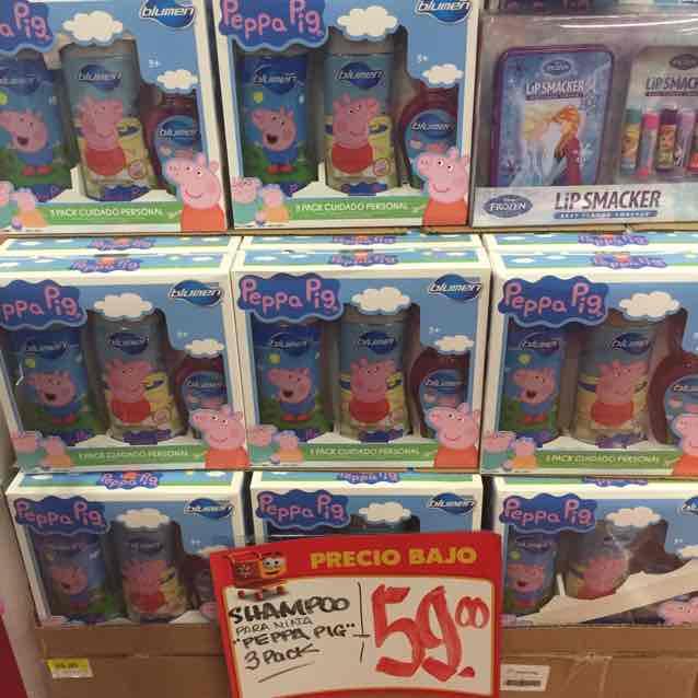Walmart: Pack Shampo Peppa Pig, Dora Exploradora, Ben 10 por $59
