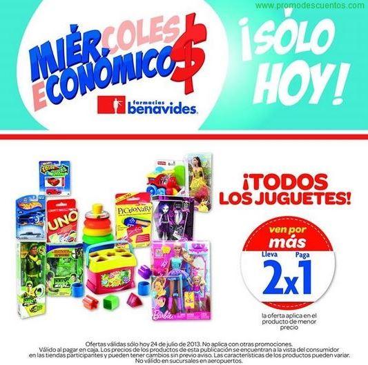 Farmacias Benavides: 2x1 en todos los juguetes