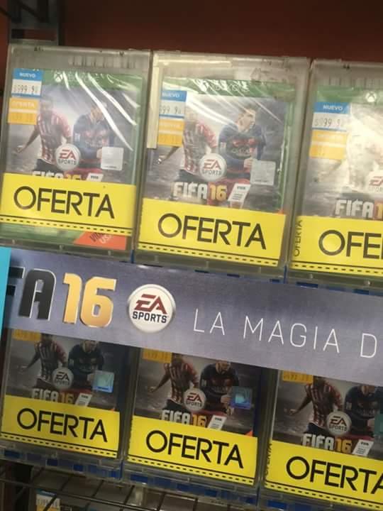 B Store: Fifa 16 para todas las consolas a $500 en la compra de un juego de Estreno