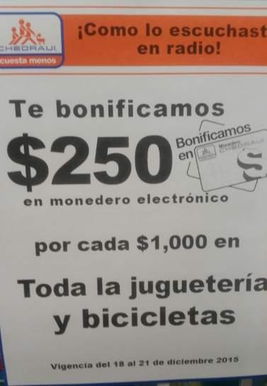 Chedraui: $250 en monedero por cada $1,000 en juguetería, bicicletas y más