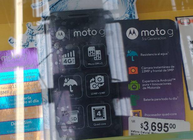 Chedraui: Moto G 3ra Gen. $3695 y $600 en monedero
