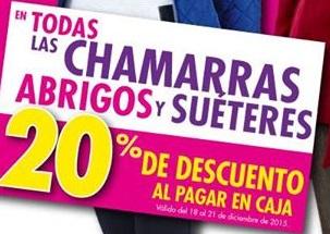 Suburbia: 20% de descuento en Chamarras, Abrigos y Suéteres