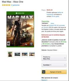 Amazon: Mad Max (Xbox One)