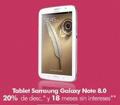 Liverpool: 20% de descuento y meses sin intereses en tablets Samsung Galaxy Note