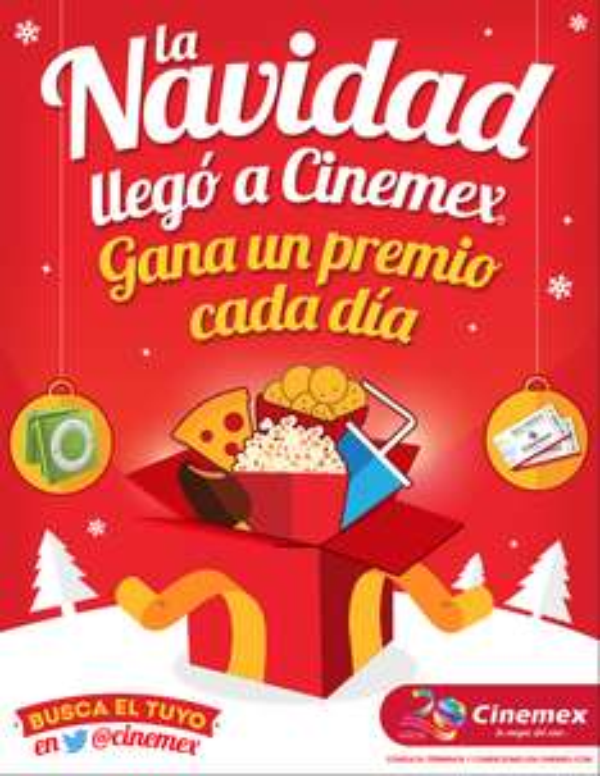 regalo navidad cinemex 20/12/2015