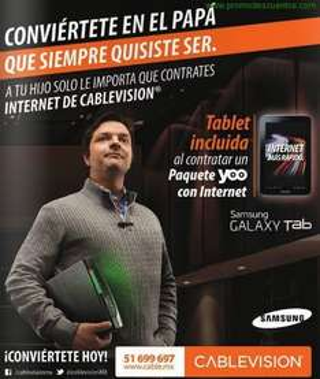 Tablet Samsung Galaxy Tab 3 contratando paquete YOO con internet