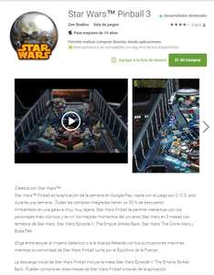 Star Wars™ Pinball 3 Google Play