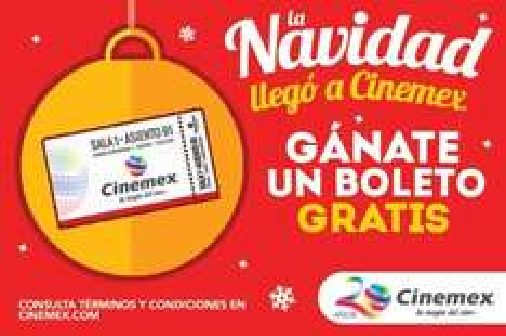 Regalo de navidad cinemex 21/12/15