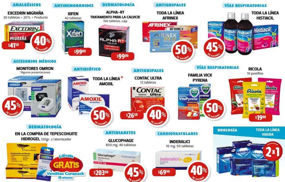 Farmacias Guadalajara: 50% en Amoxil, Vick Pyerna y más