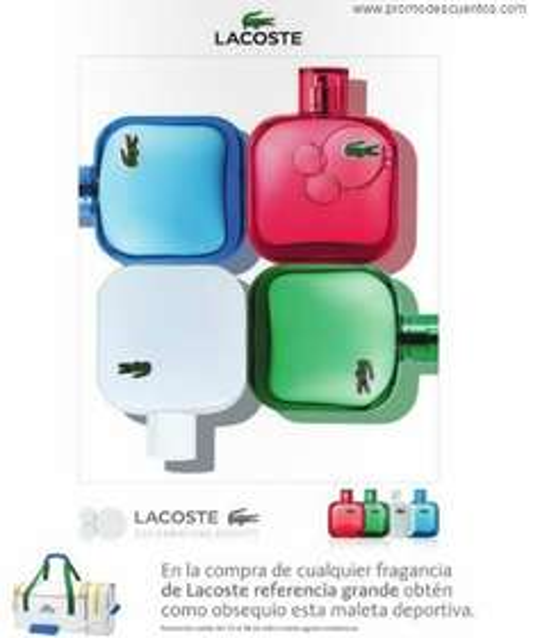 Maleta Lacoste gratis comprando perfume de la marca