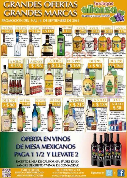 Bodegas Alianza: 3x2 en Red Bull, cerveza de regalo comprando tequila y más