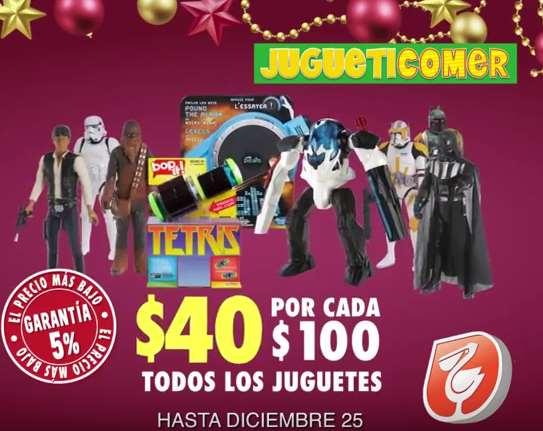 La Comer: $40 de descuento por cada $100 de compra en juguetes