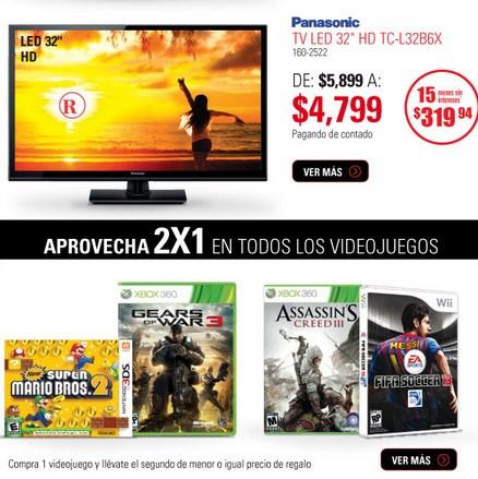 RadioShack: 2x1 en videojuegos y más