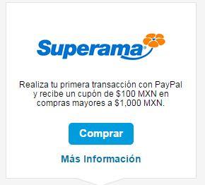 Superama & Paypal: Haz tu super de $1,000 o más y obten un cupon de $100 ¡Gratis!