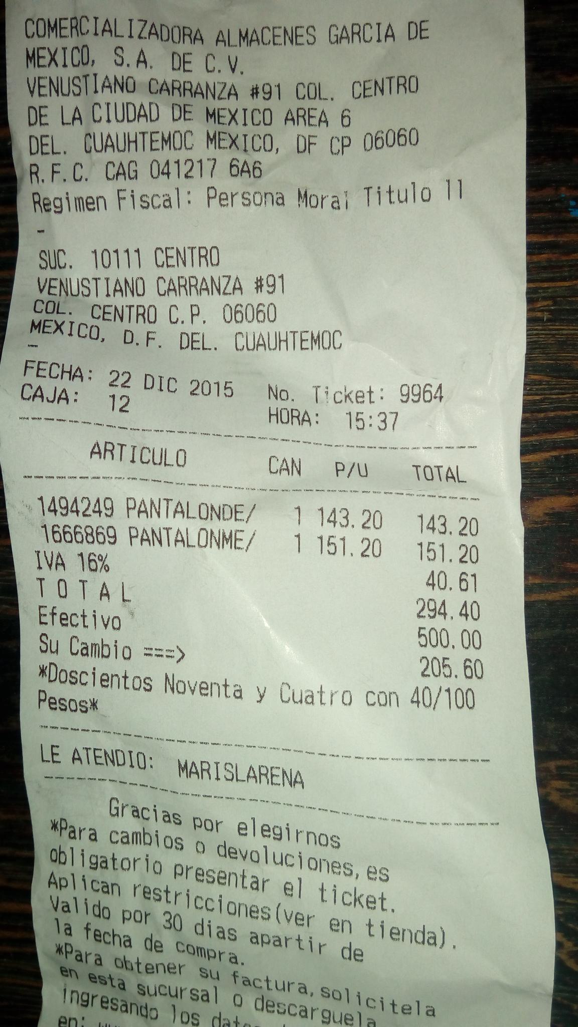 Almacenes García: Pantalones de mezclilla Cuidado con el perro a $189