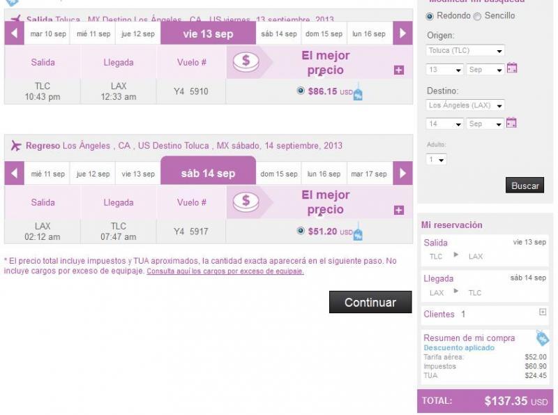 Volaris: 70% de descuento desde Toluca (Cancún $1,067, Los Ángeles US$137 redondo)