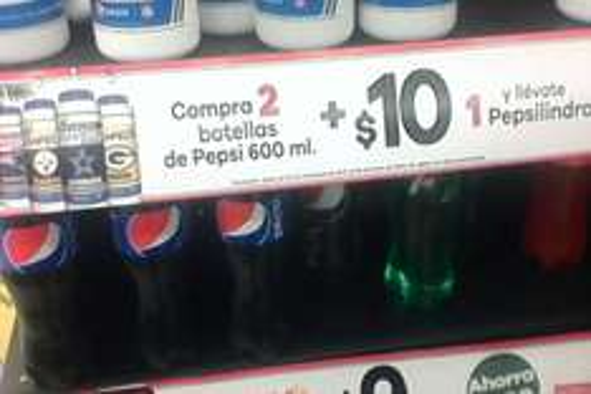 7-Eleven: Pepsilindro a $10.00 comprando 2 pepsi de 600ml