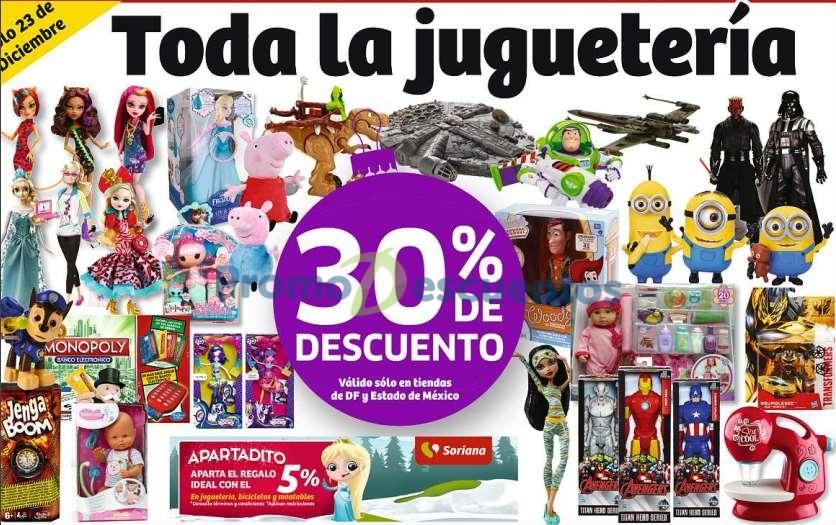 Soriana: 30% de descuento en todos los juguetes (DF y Edo de Mex)