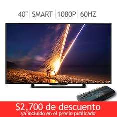 "Costco en linea: Sharp LED 40"" Smart TV 1080p 60Hz y mas"