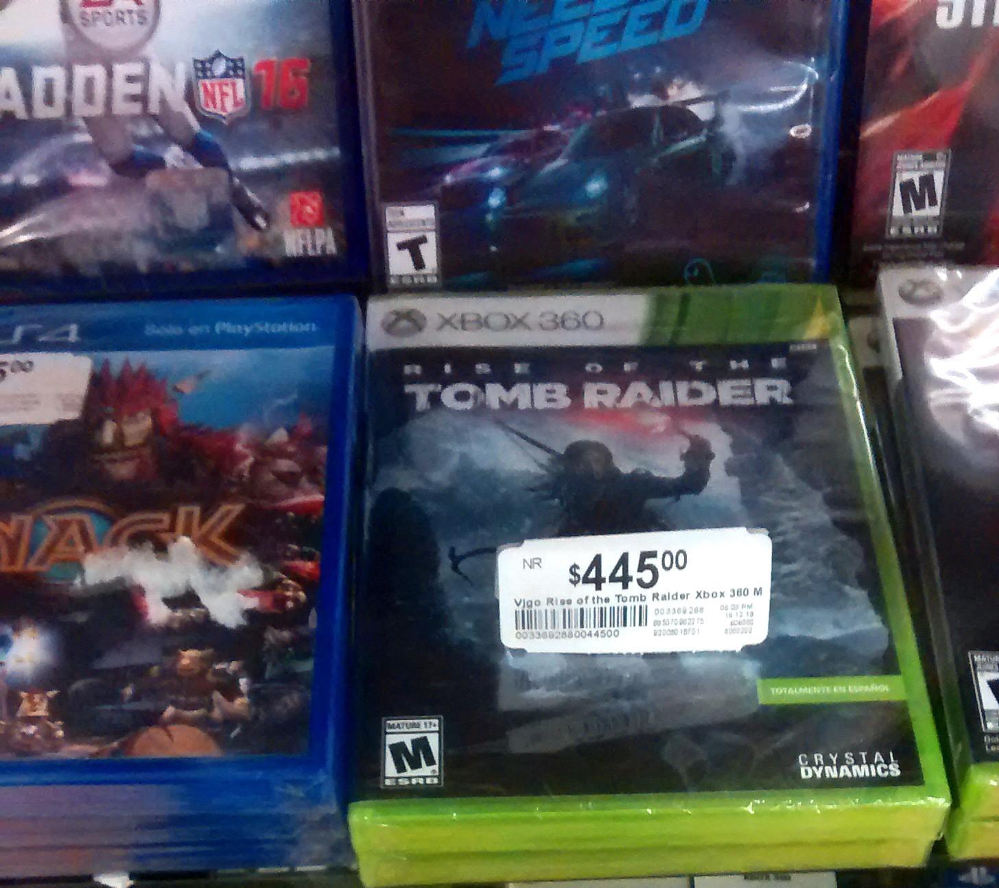 Chedraui: Rise of Tomb Raider para 360