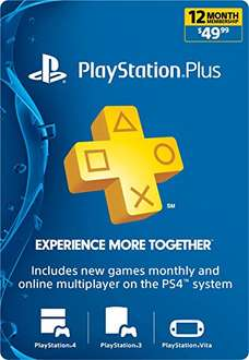 Amazon USA - Playstation Plus Membresia 12 Meses (Código)