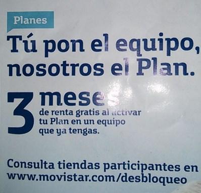 Movistar: 3 meses gratis si contratas plan con tu teléfono