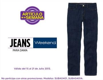 Artículo de la semana Suburbia: jeans para mujer $150