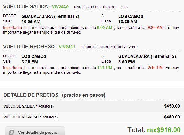 Vivaaerobus: vueloredondo GDL al DF $756, de GDL a Los Cabos $916 y más
