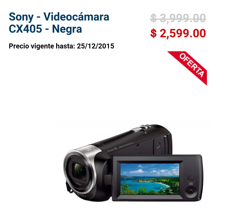 Bestbuy: videocámara Sony Full HD más 300 en cupones