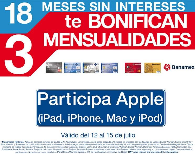 Sam's Club: 18 MSI y 3 mensualidades de bonificación incluyendo Apple