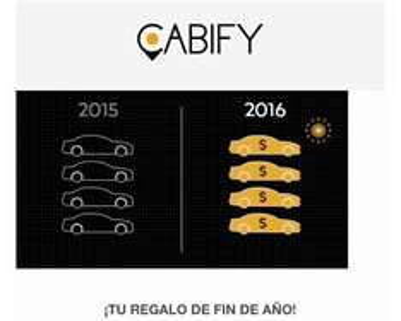 ¡Cashback de todos tus viajes en Cabify! Hasta el 30/12/15