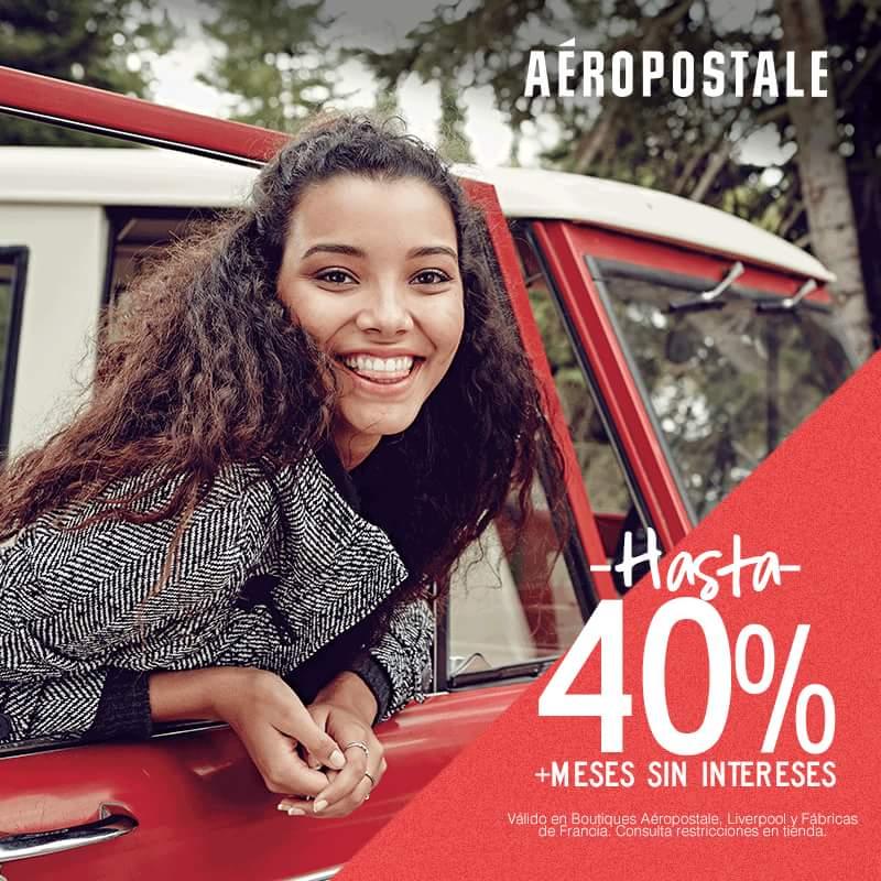 Aeropostale: Hasta 40% y MSI en rebajas de fin de temporada
