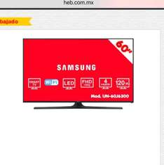 "HEB: Pantalla Samsung 60"" LED Smart TV"