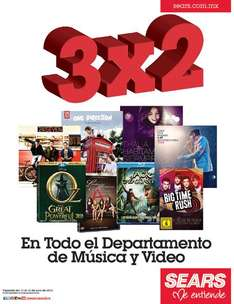 Sears: 3x2 en departamento de música y video