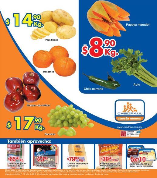 Miércoles de Chedraui julio 10: tomate $5.50 y más