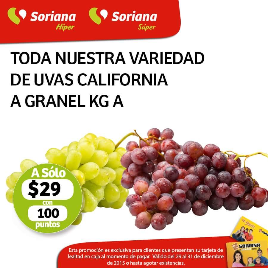 Soriana Hiper & Super: frutas y verduras 29 y 30 de diciembre