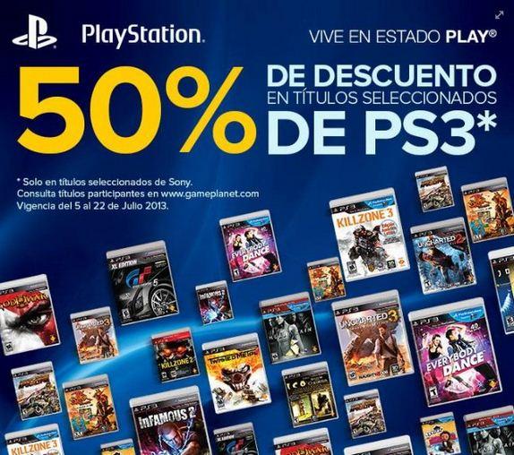 50% de descuento en juegos de PS3 de Sony