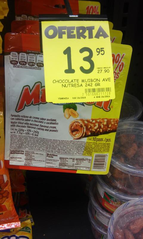 Alsuper: Caja de 10 chocolates Muibon $13