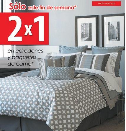 Sears: 2x1 en edredones, paquetes de cama y más